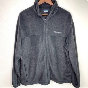 Columbia men's XL Grey zip up euc